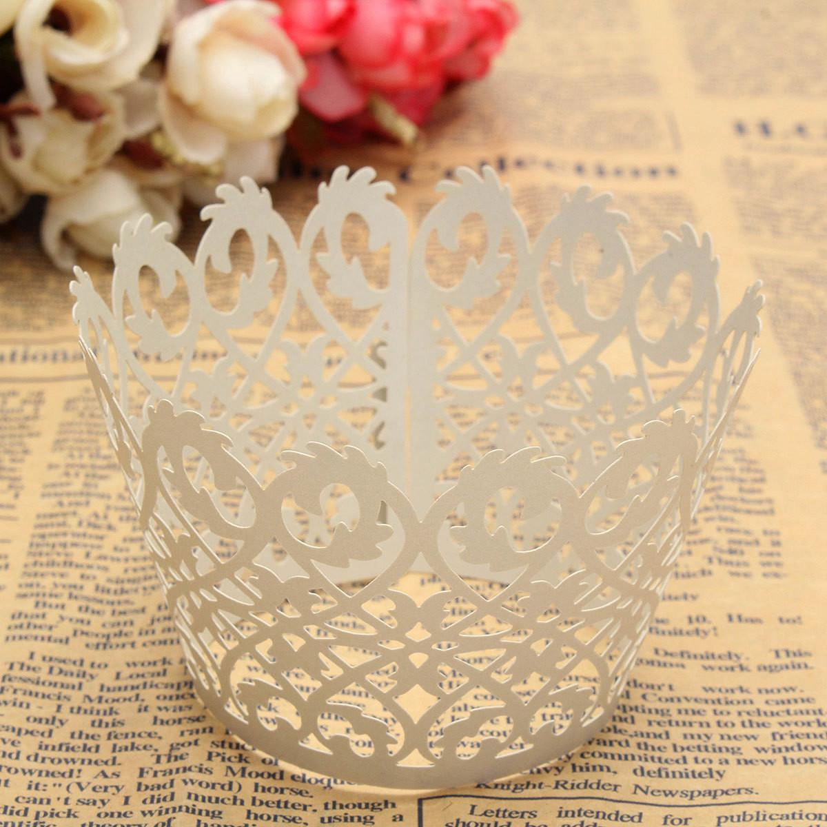 Filigree Vine Cupcake Wrappers Cases Cups Cake Decor