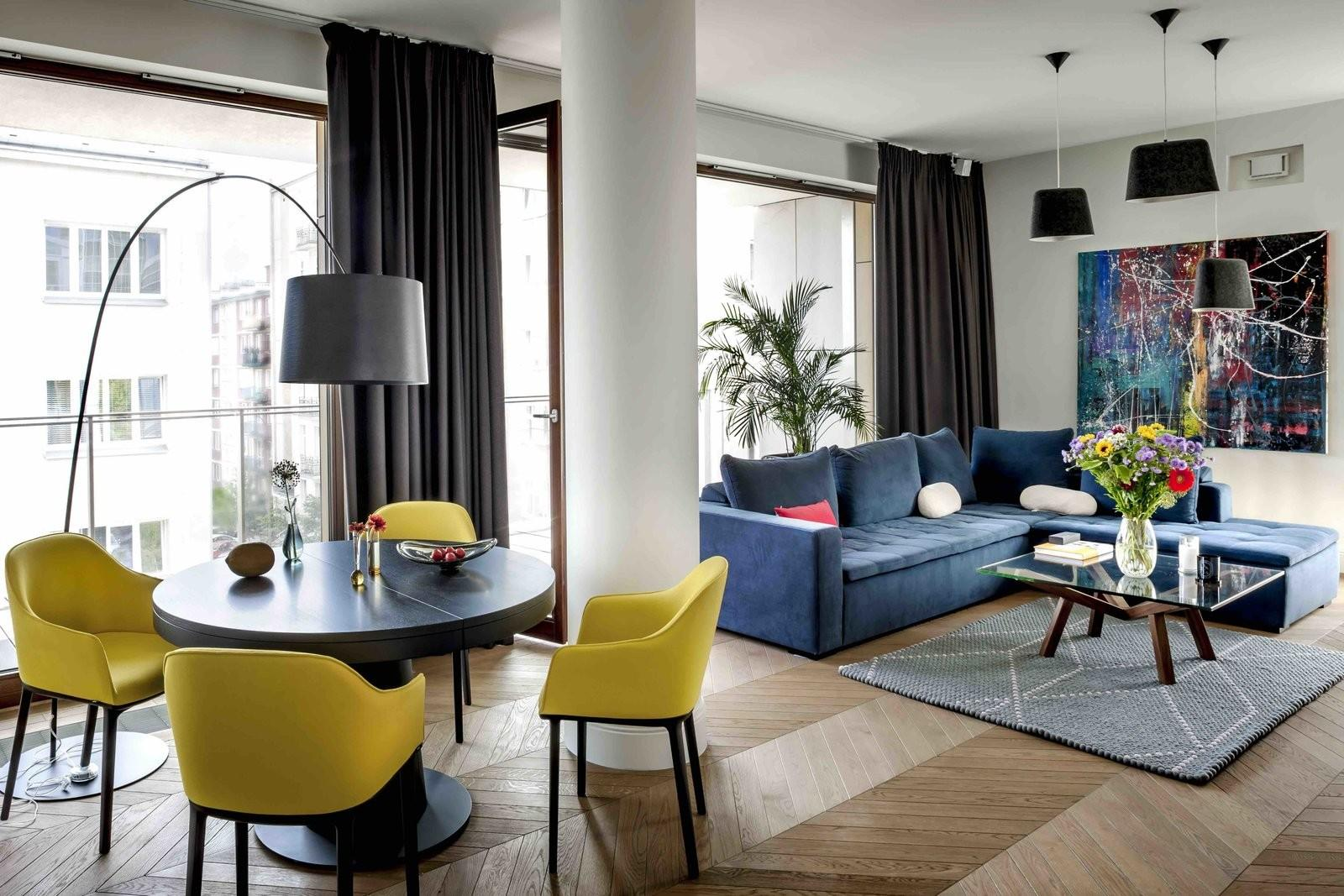 Filled Color Pattern Eclectic Apartment