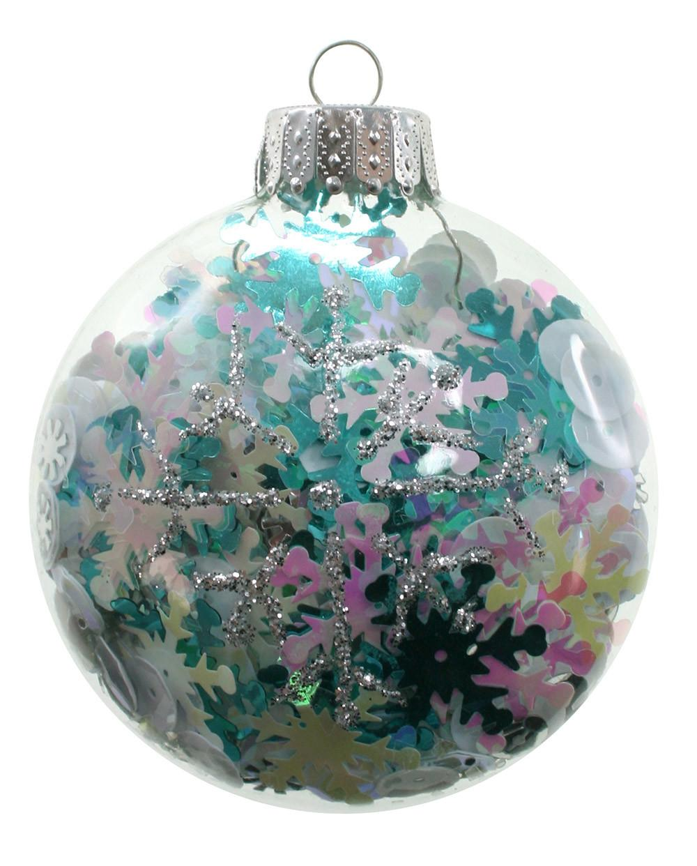 Filled Glass Ornaments Sparrow Innovations