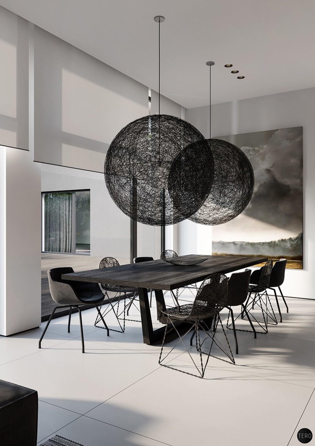 Find Modern Minimalist Dining Room Designs