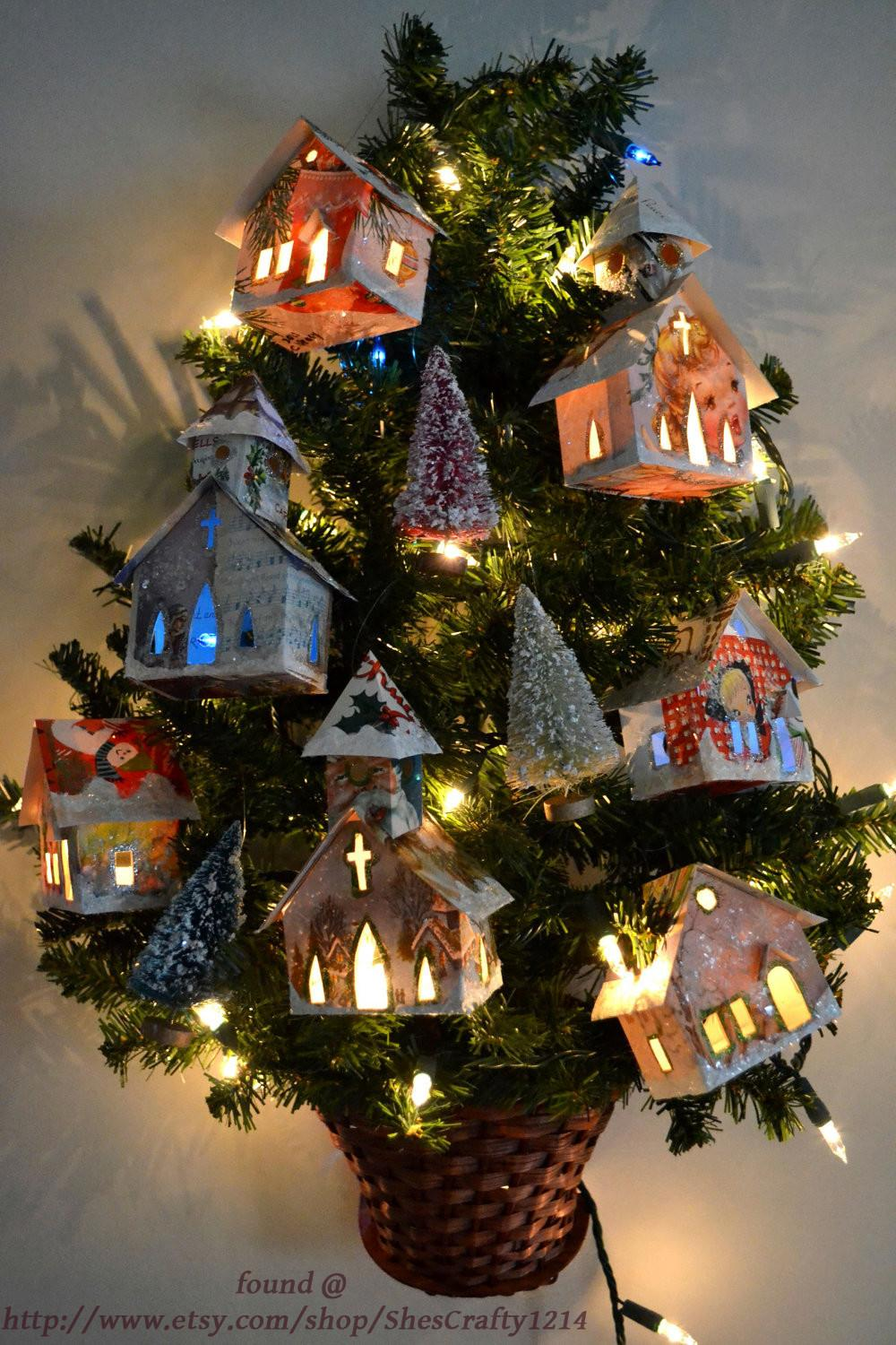 Find Week Recycled Christmas Cards Ornaments