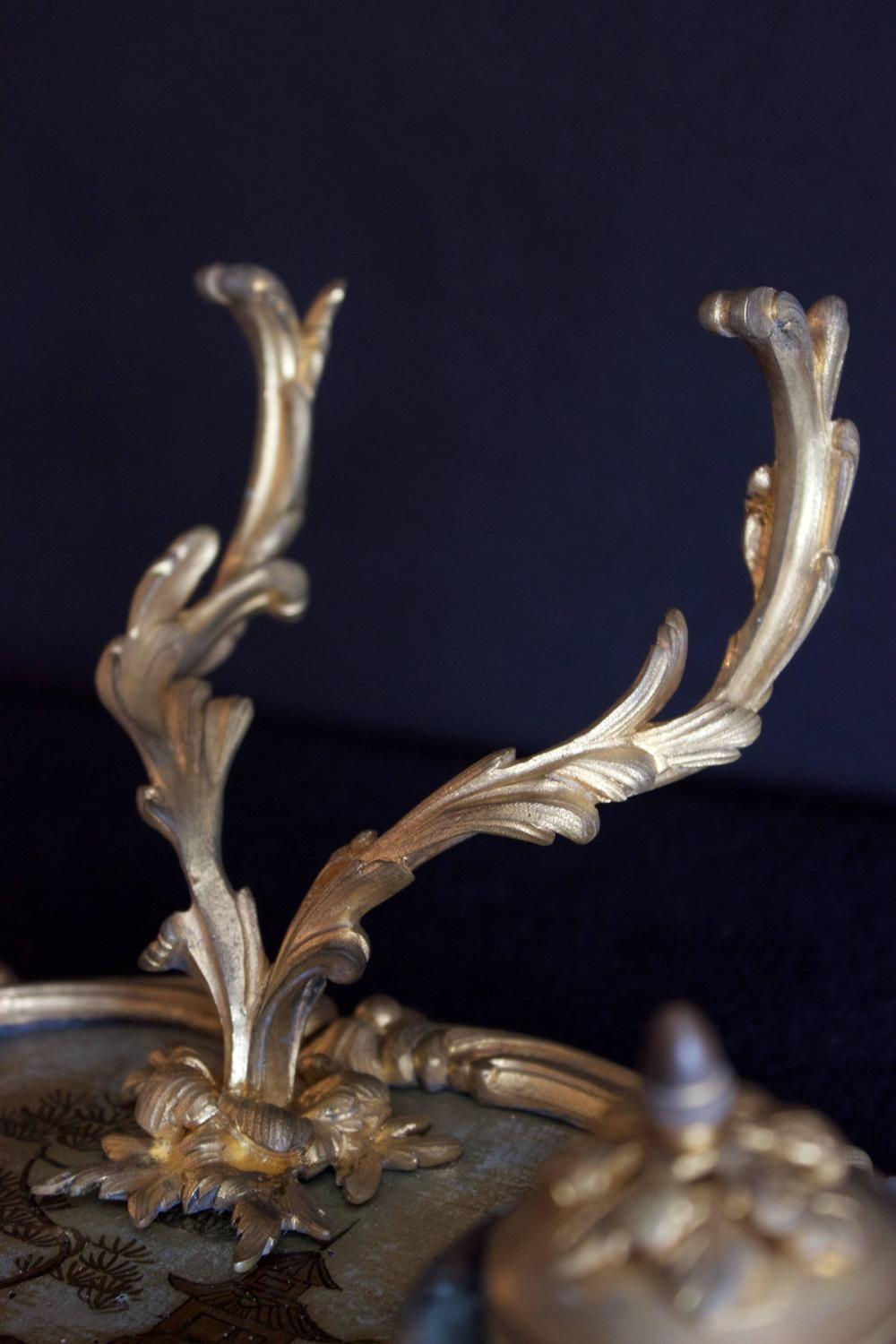 Fine French 18th Century Inkstand Bronze Dor