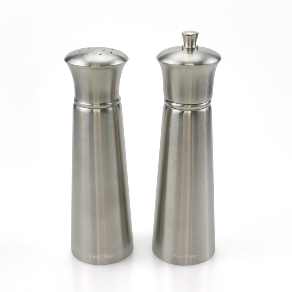 Finether Home Kitchen Tools 2pcs Pepper Salt Grinder