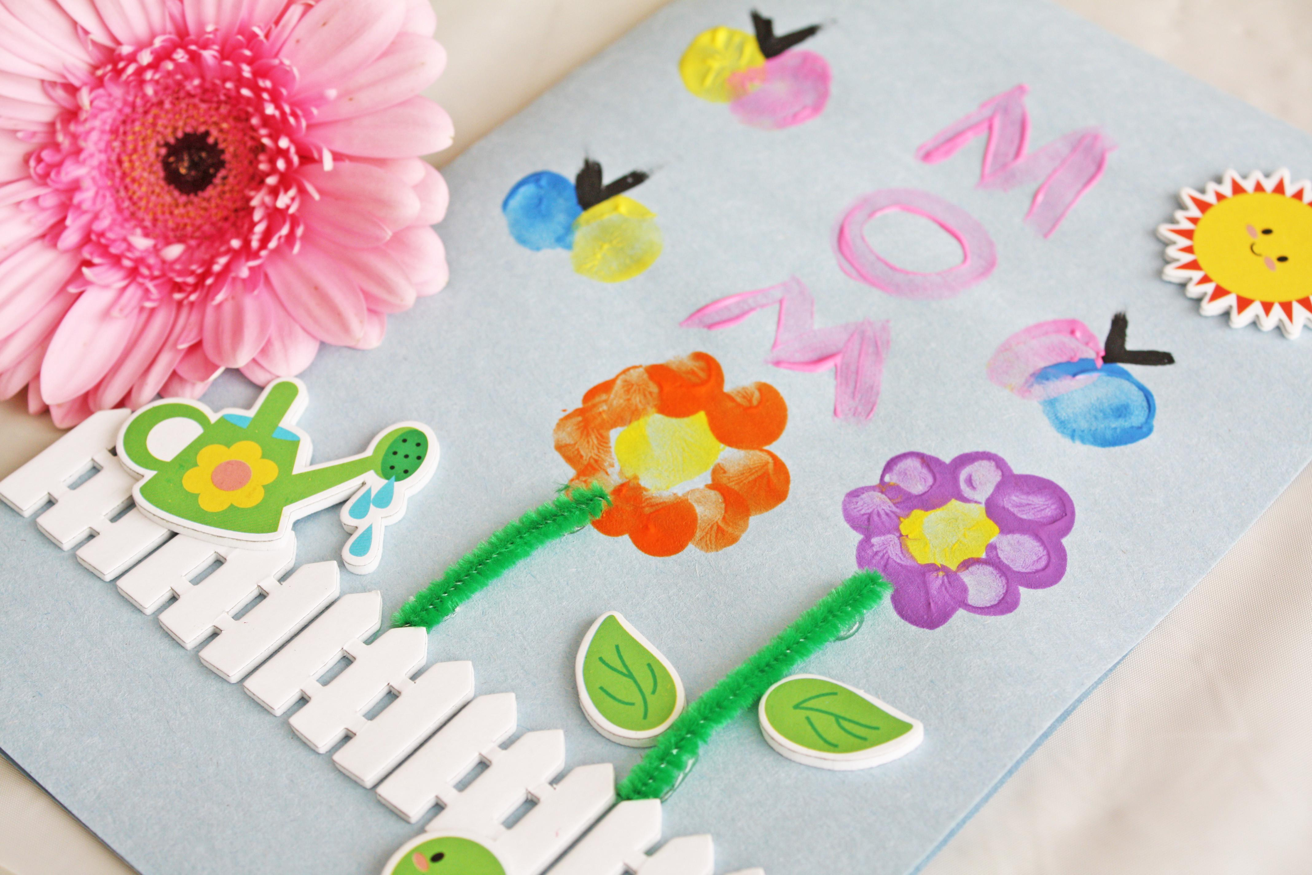 Finger Paint Mother Day Cards