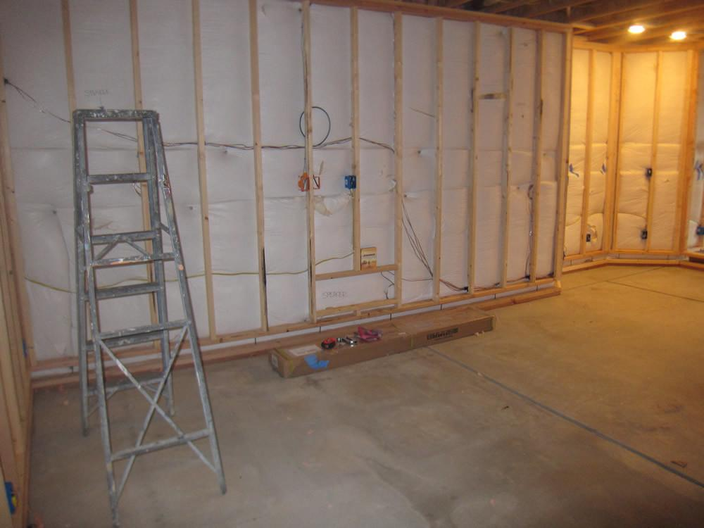 Finish Basement Home Theater Before After