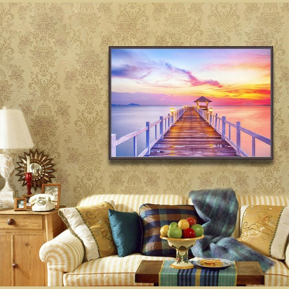 Fipart Diy Diamond Painting Cross Stitch Craft Kit Wall