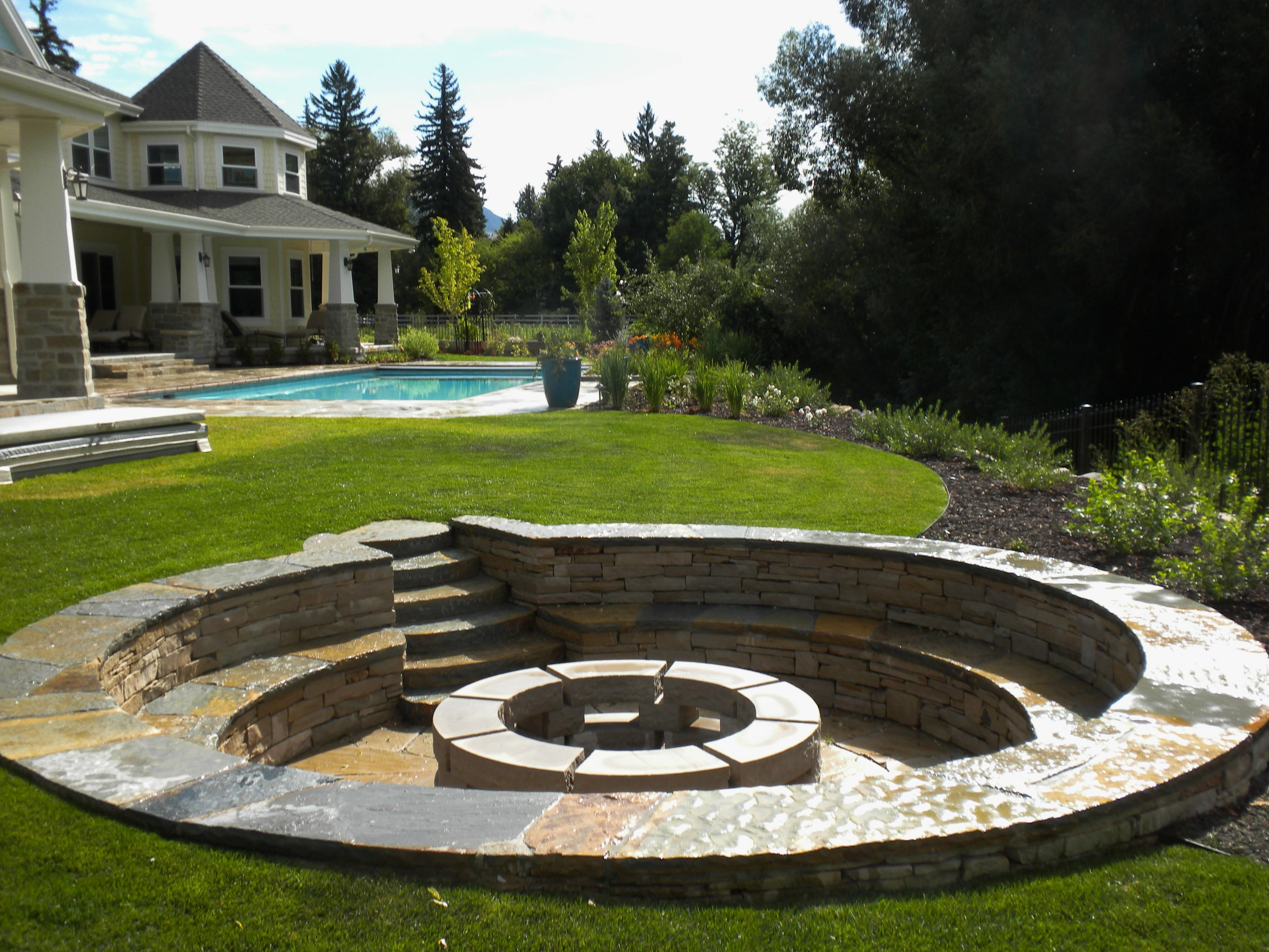 Fire Pit Ideas Patio Old Brick Amys Office