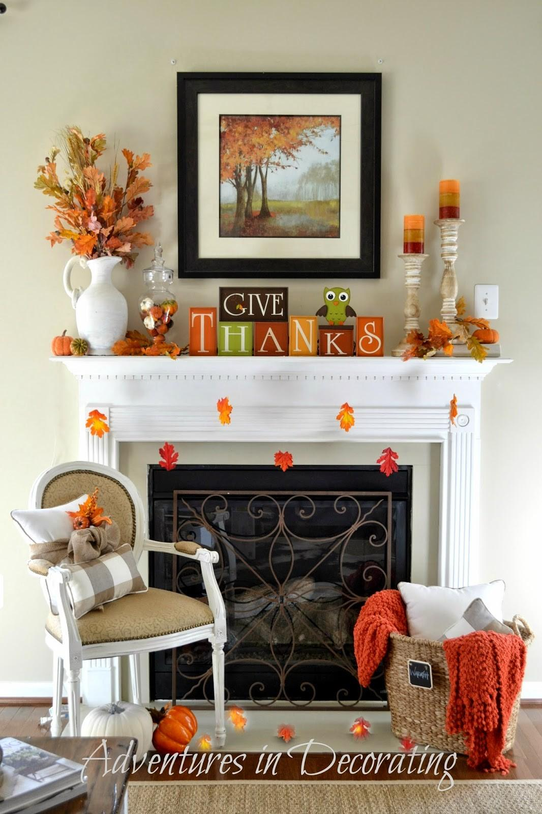 Fireplace Mantel Decor Ideas Thanksgiving Marc