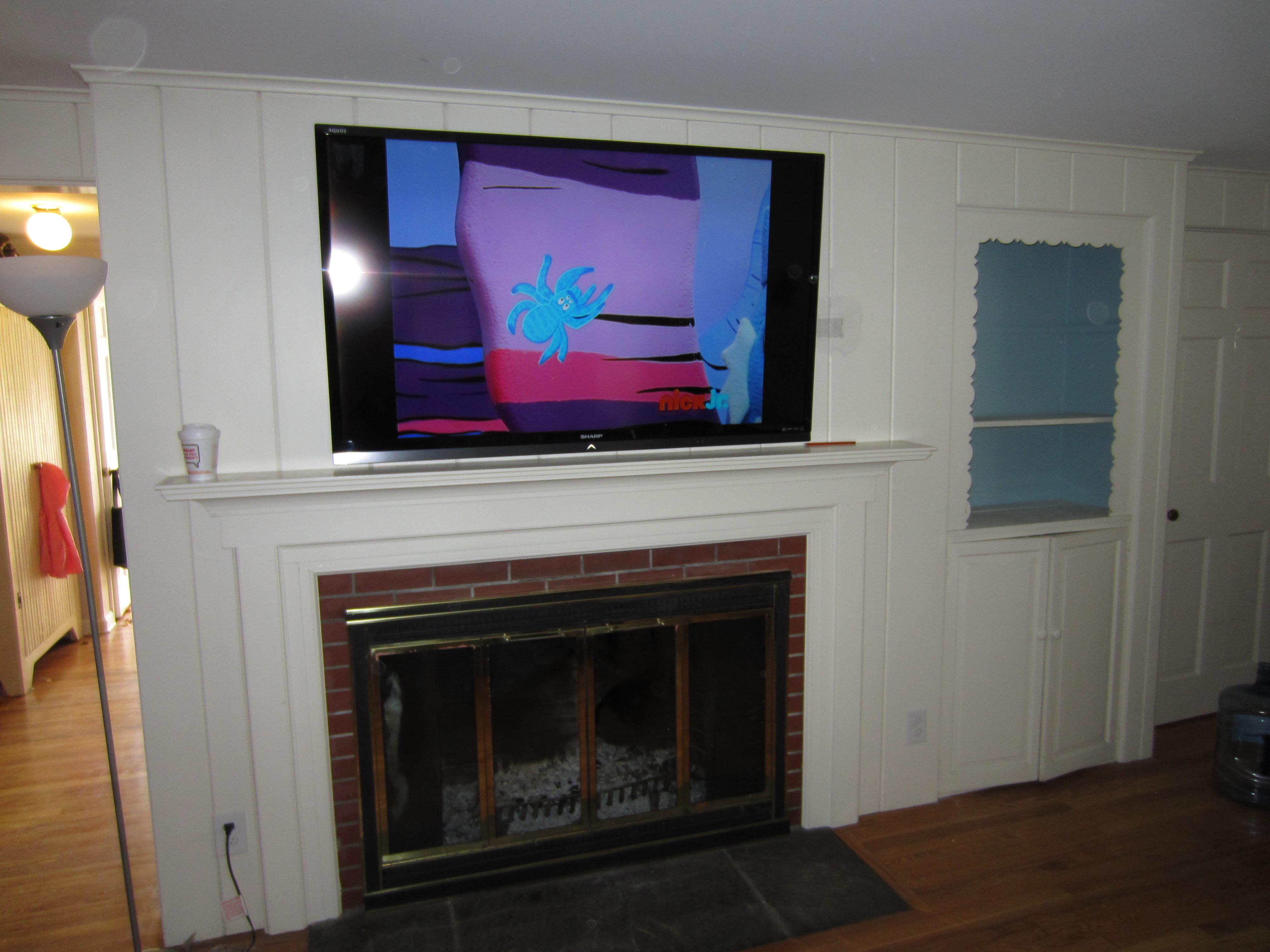 Fireplace Mantel Ideas Mounting Above