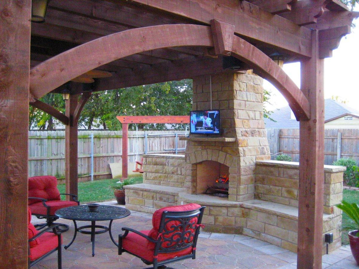Fireplaces Diy Outdoor Shade Structures Western