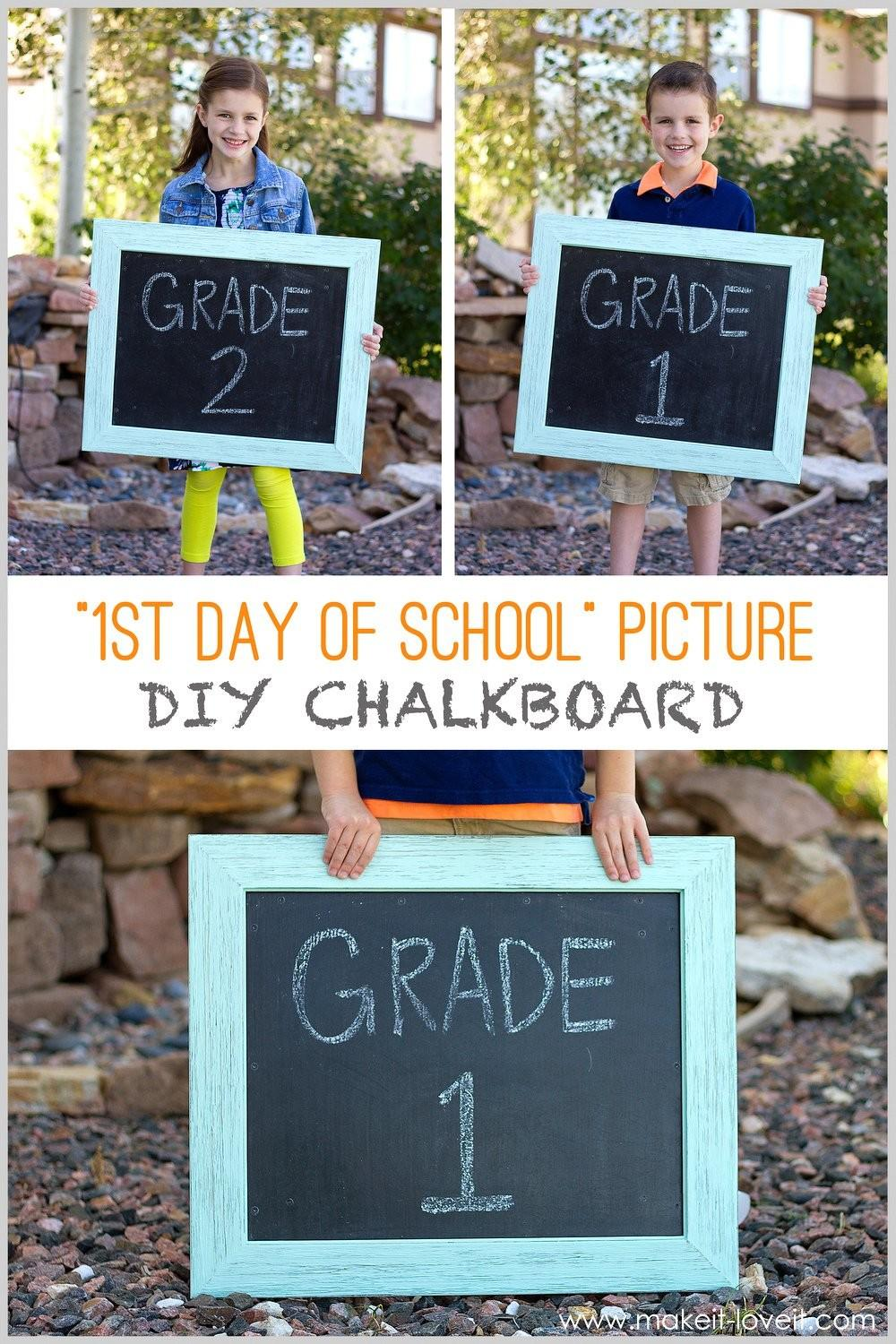 First Day School Diy Chalkboard Usable