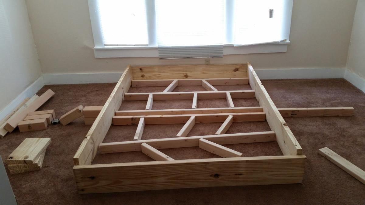 First Diy Project Rustic Style Bed Frame