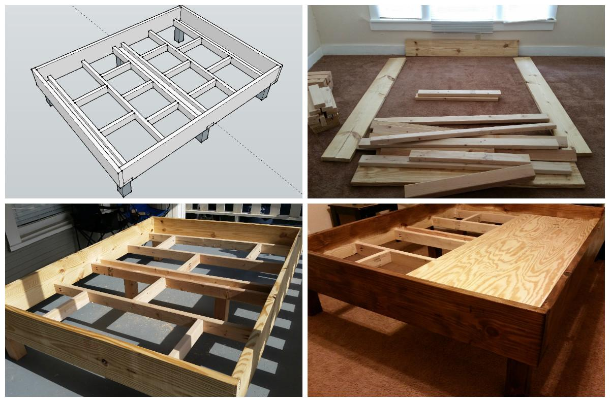 First Diy Project Rustic Style Bed Frame Design