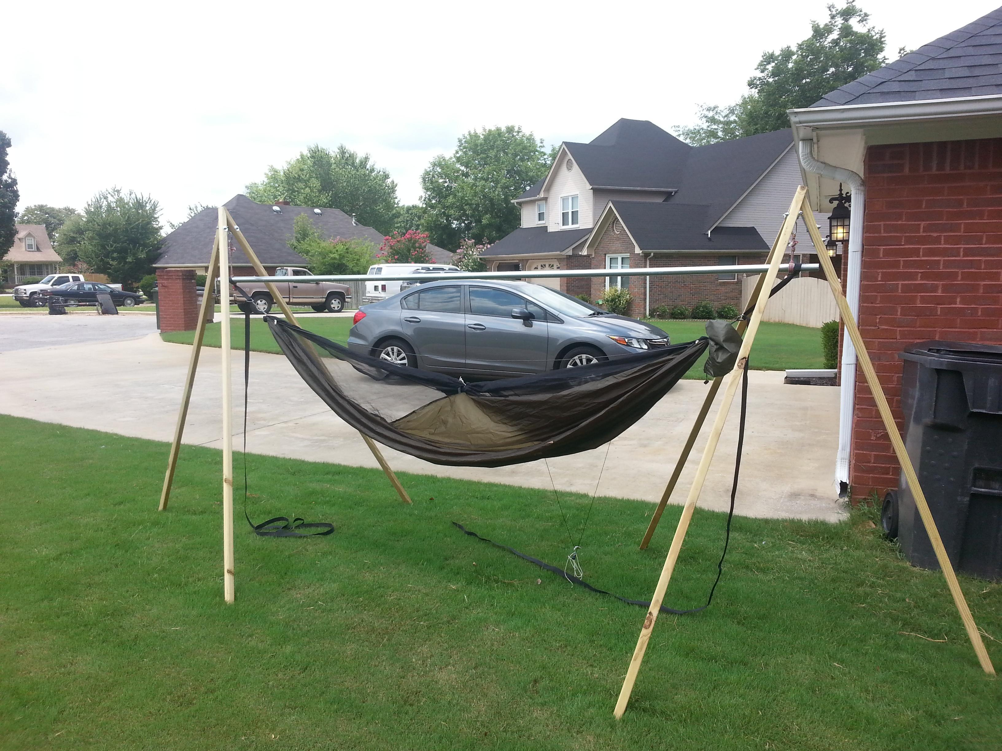 First Diy Yourself Project Hammock Stand