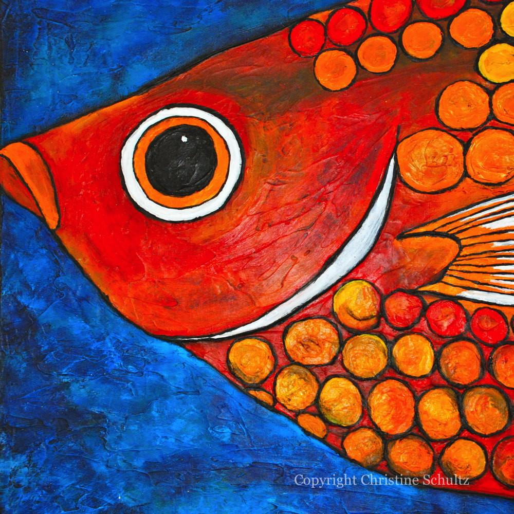 Fish Painting Fine Art Canvas