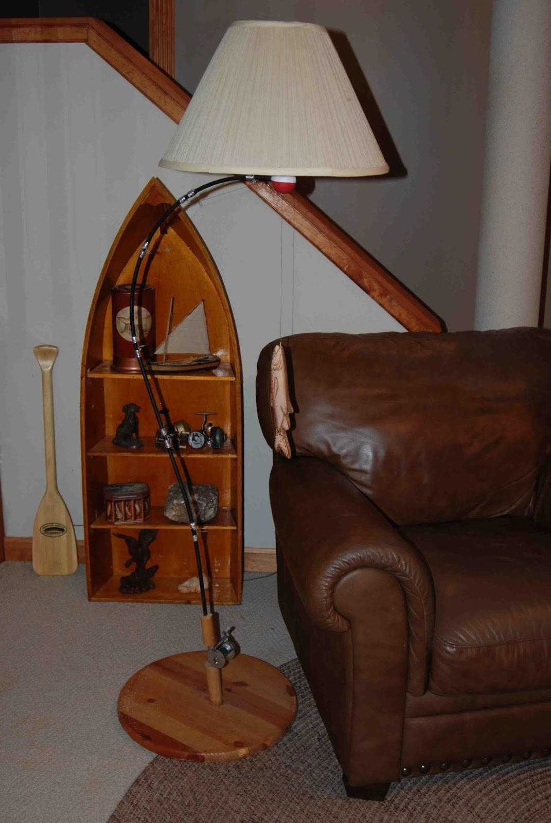 Fishing Rod Floor Lamp Pole Diy