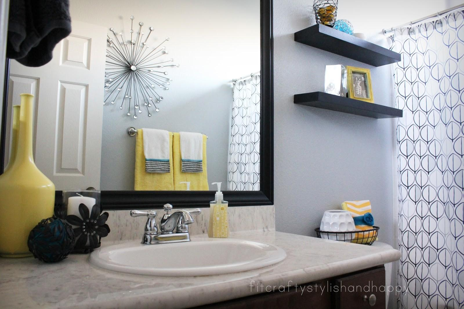 Fit Crafty Stylish Happy Guest Bathroom Makeover