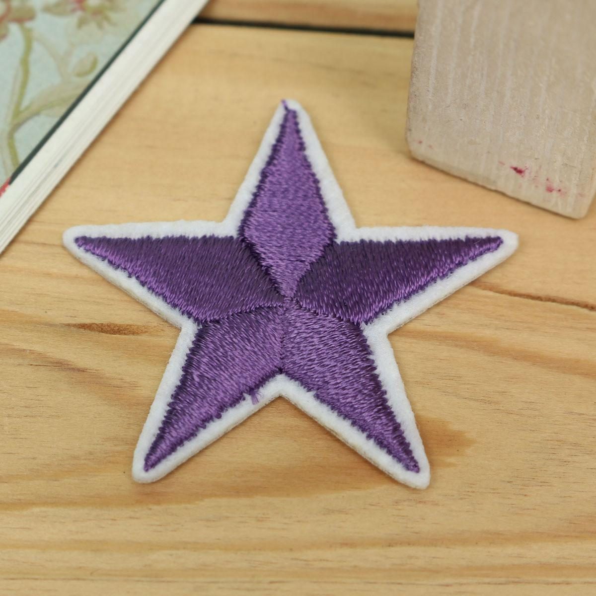 Five Pointed Star Diy Fabric Sticker Embroidery Badge