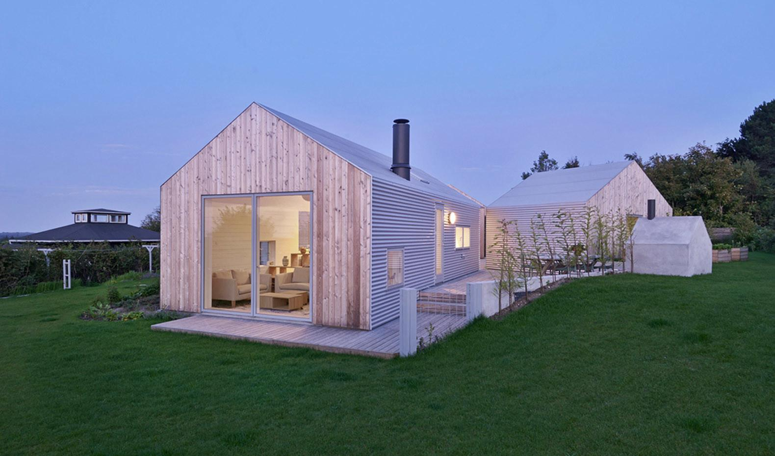 Five Small Buildings Shared Courtyard Create