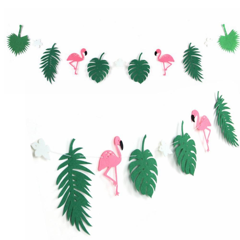Flamingo Cocunut Leaves Garland Summer Party