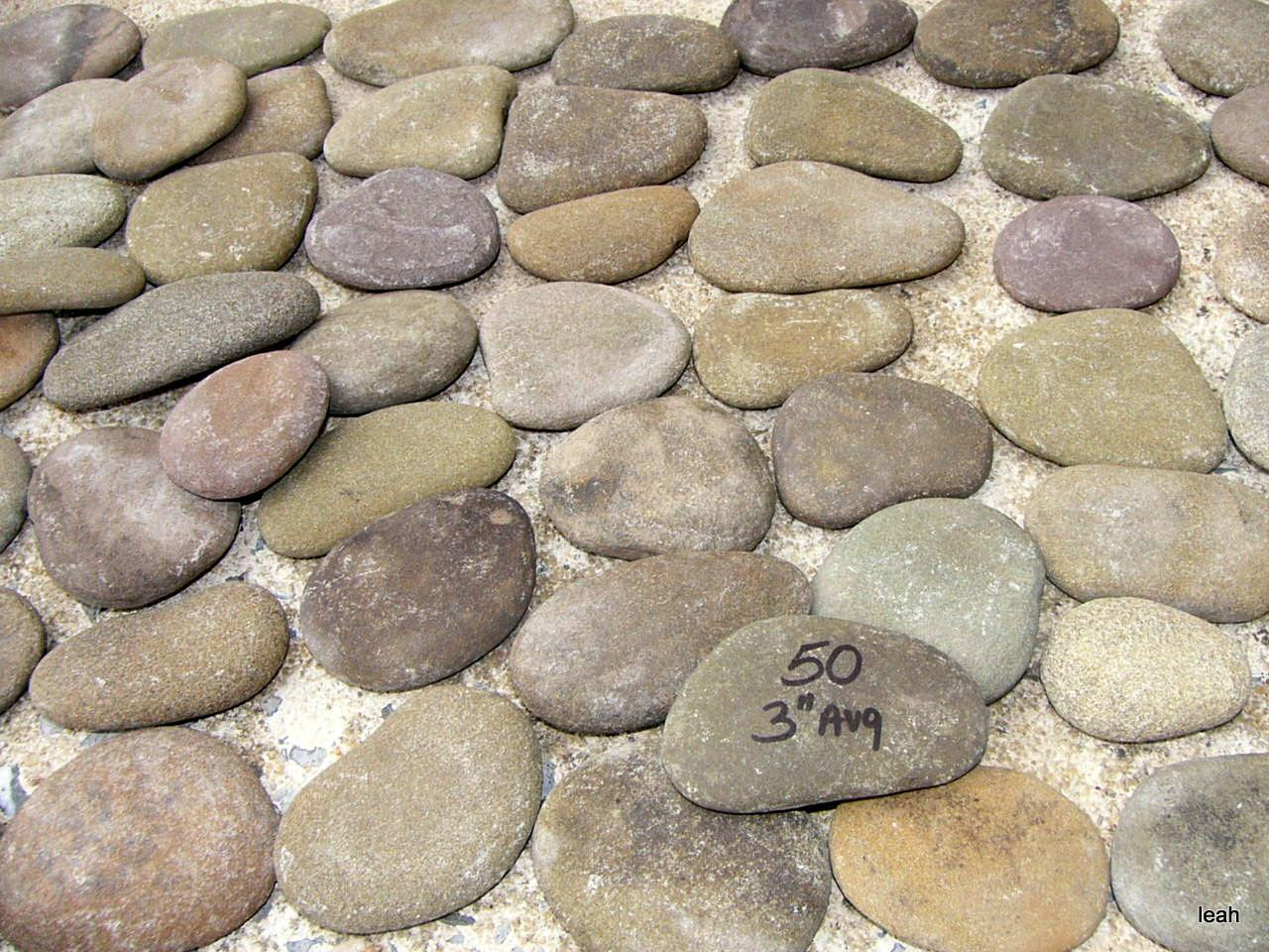 Flat River Rocks Painting Crafts Home Decor Rock Lot 36b