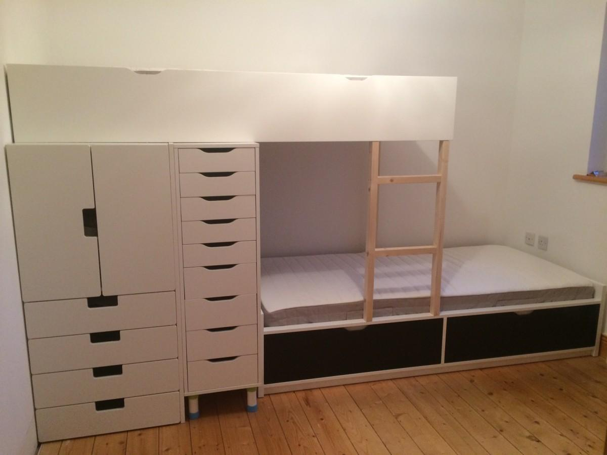 Flaxa Bunk Bed Lots Storage Hackers