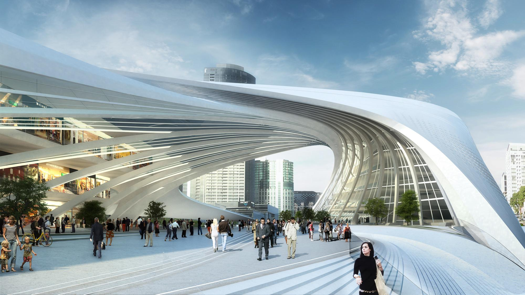 Flinders Street Station Shortlisted Proposal Zaha