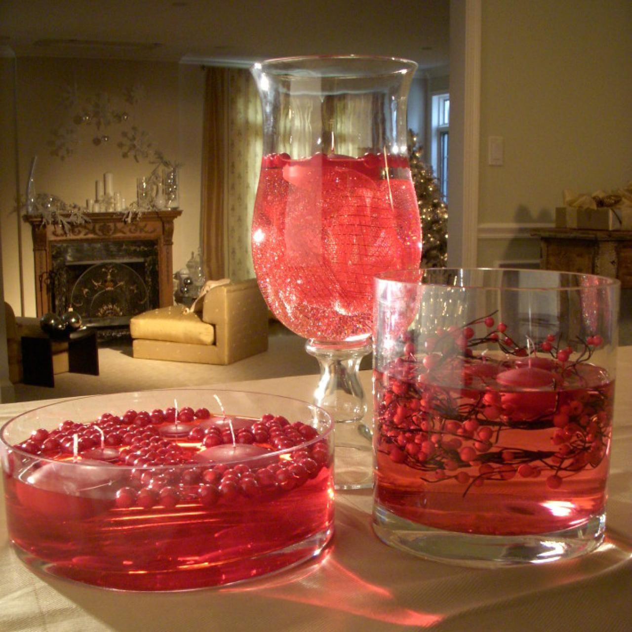Floating Cranberry Centerpiece