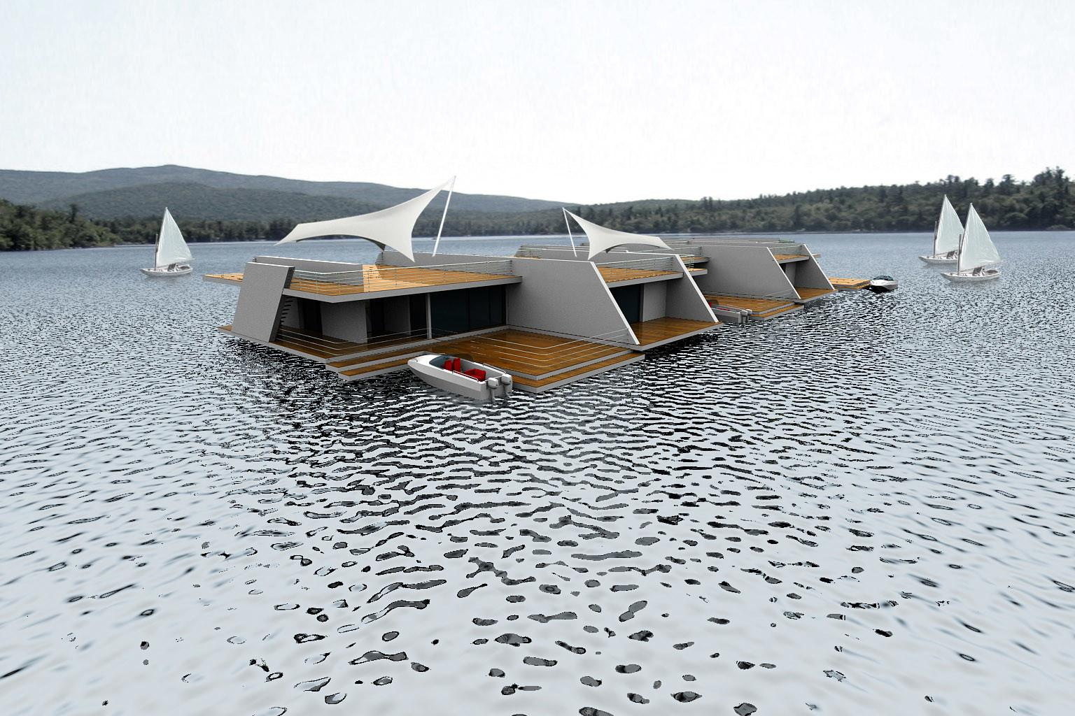 Floating Homes Modern Design Moderndesign
