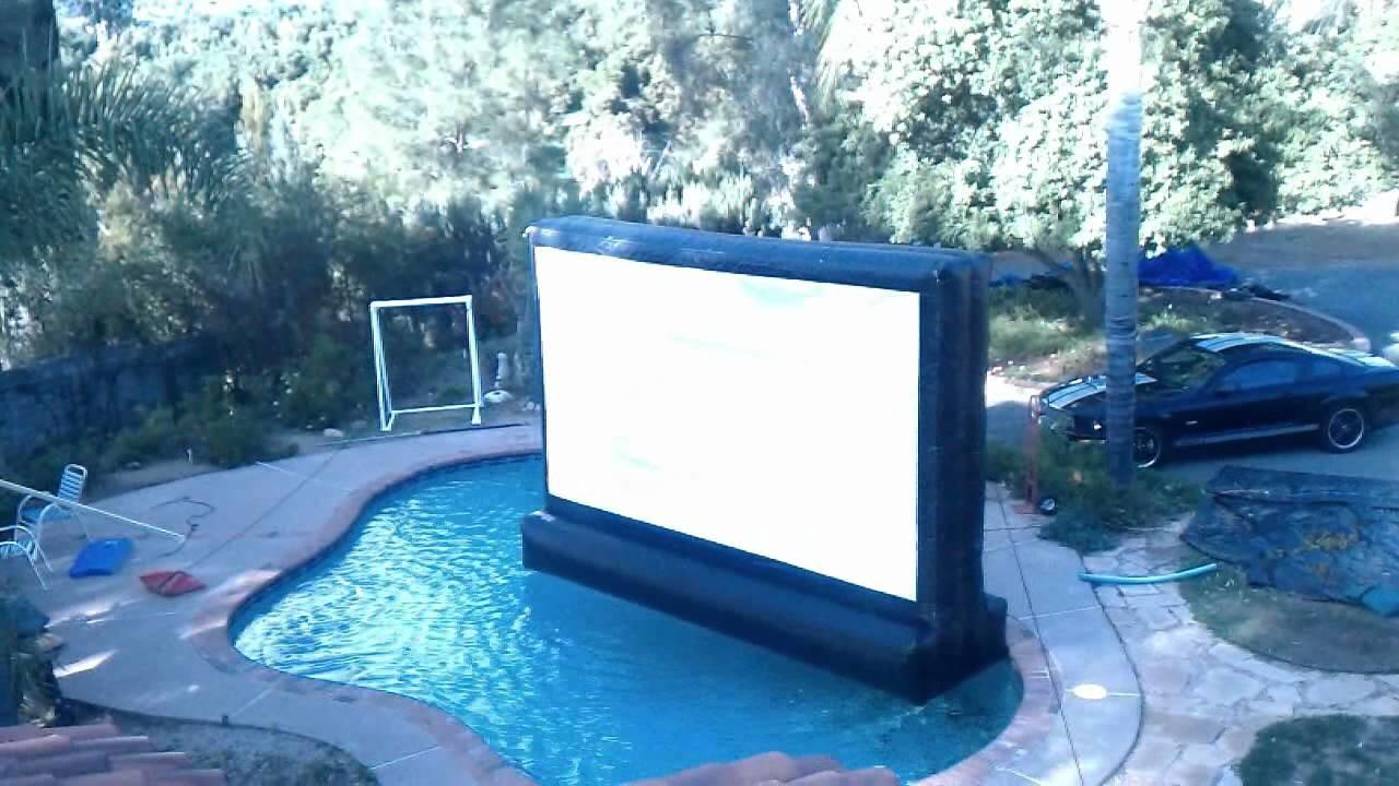 Floating Outdoor Inflatable Movie Screen Pool