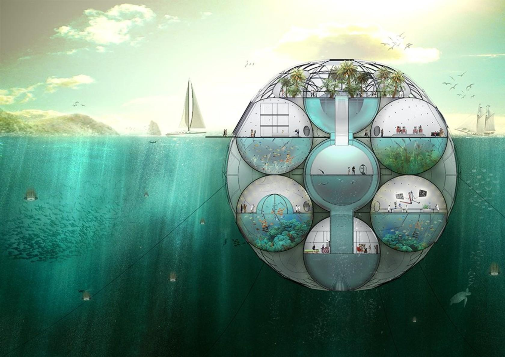 Floating Spherical Home Glimpse Future