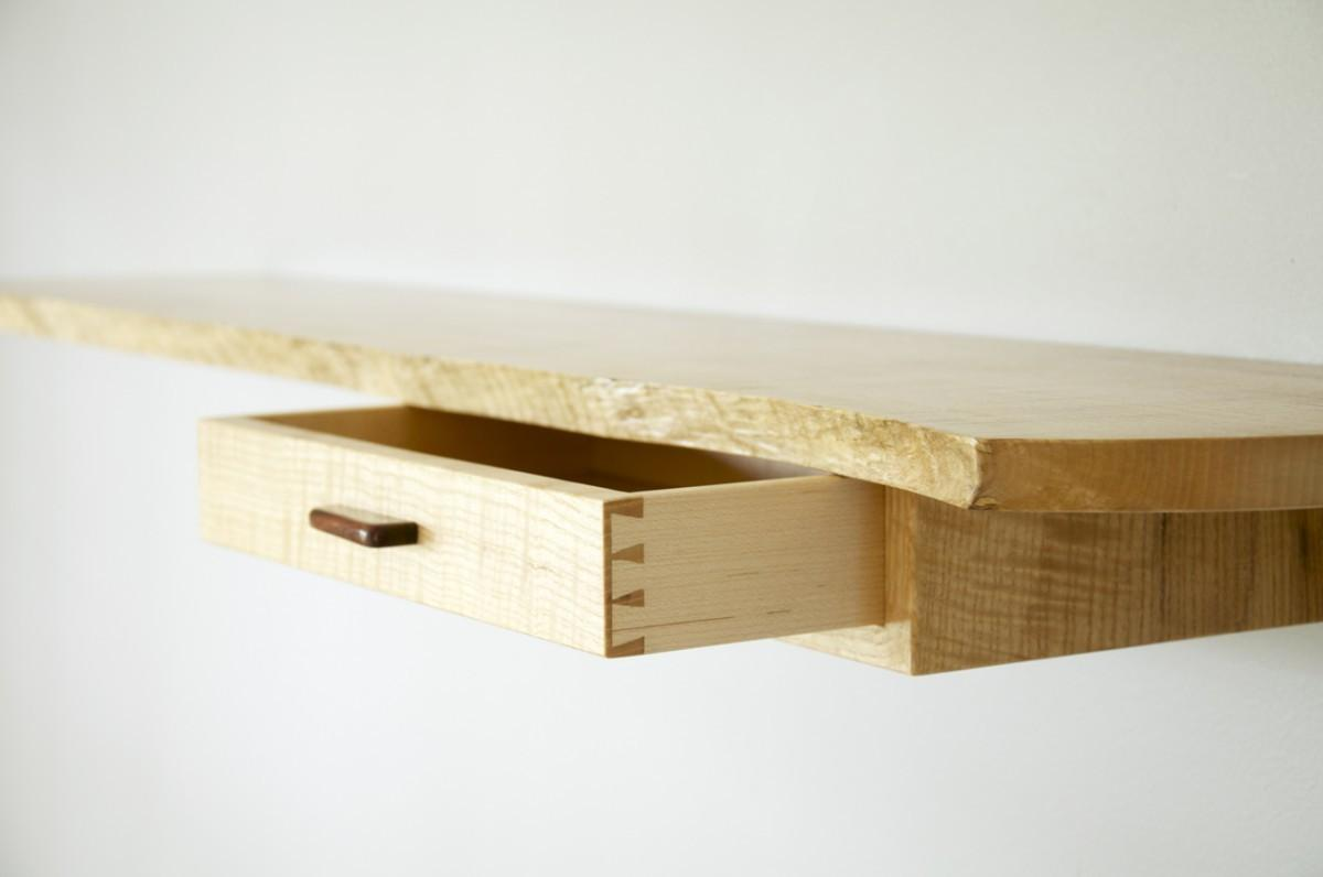 floating wall shelf drawer nana workshop