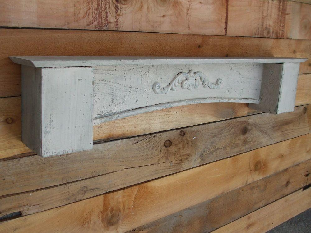 Floating White Cedar Wall Shelf Mantle French Country