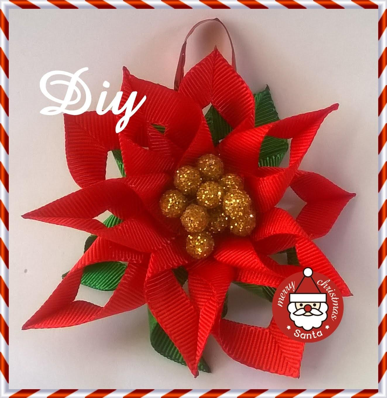 Flor Natal Para Decorar Rvore Diy Christmas Flower