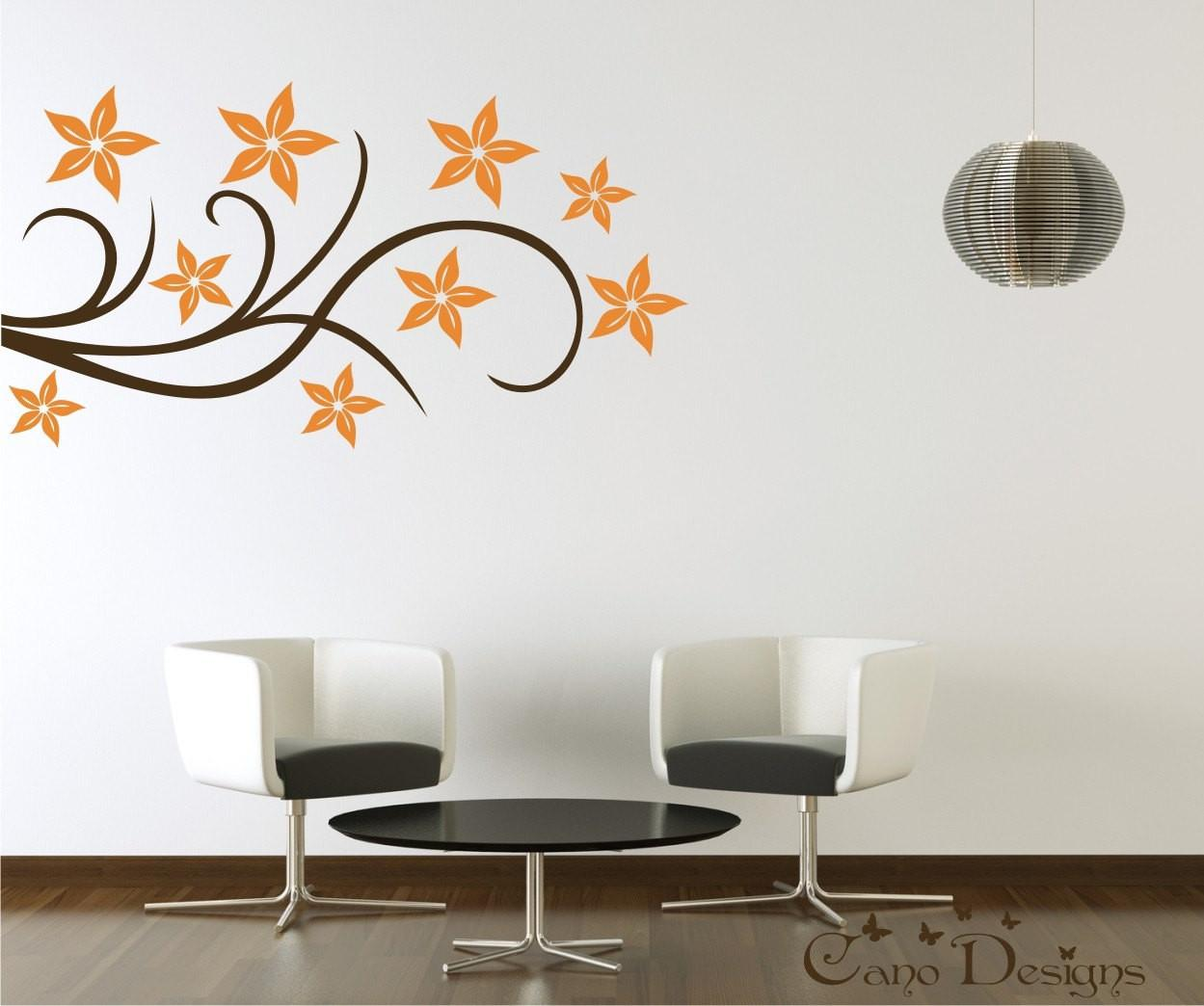Floral Design Vinyl Decal Wall Decals Stickers Canodesigns