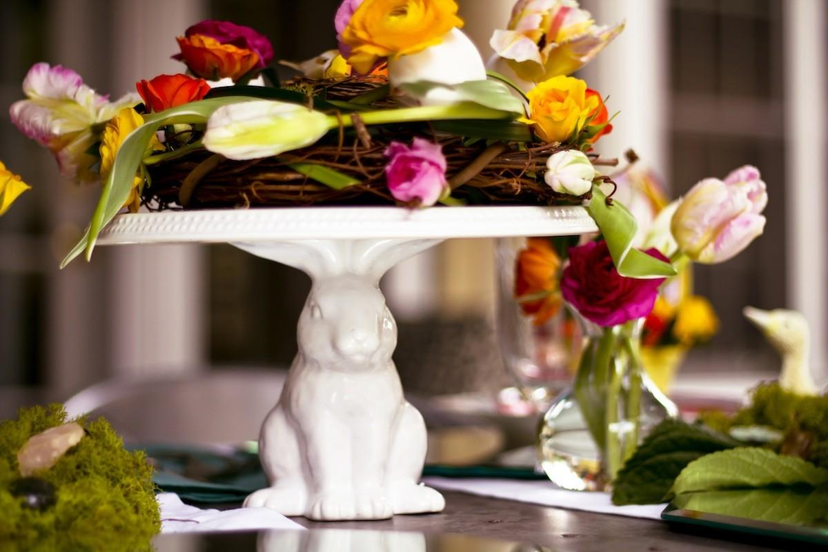 Floral Easter Tablescape