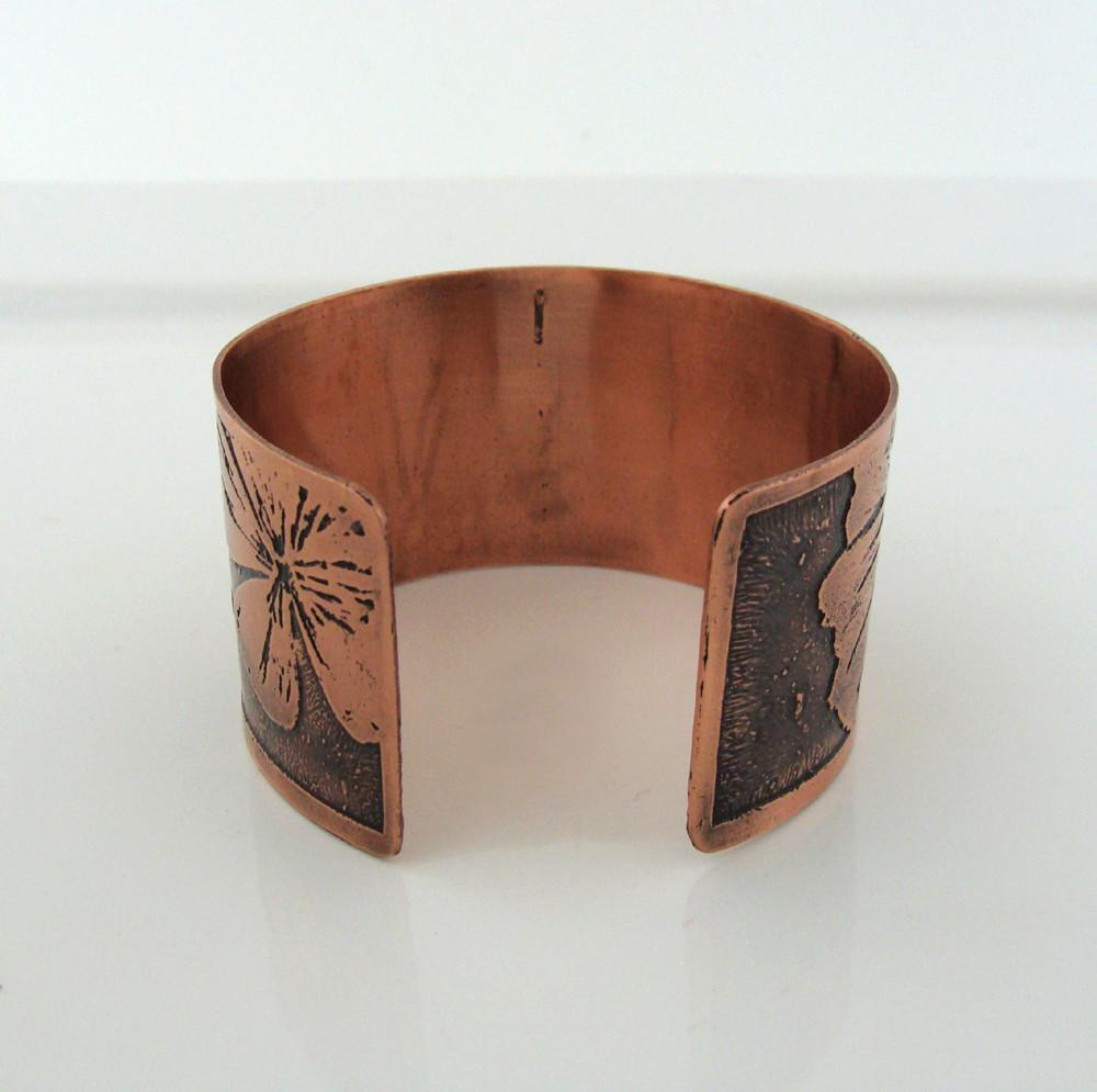 Floral Etched Copper Cuff Jewelry Creations Lyndsey