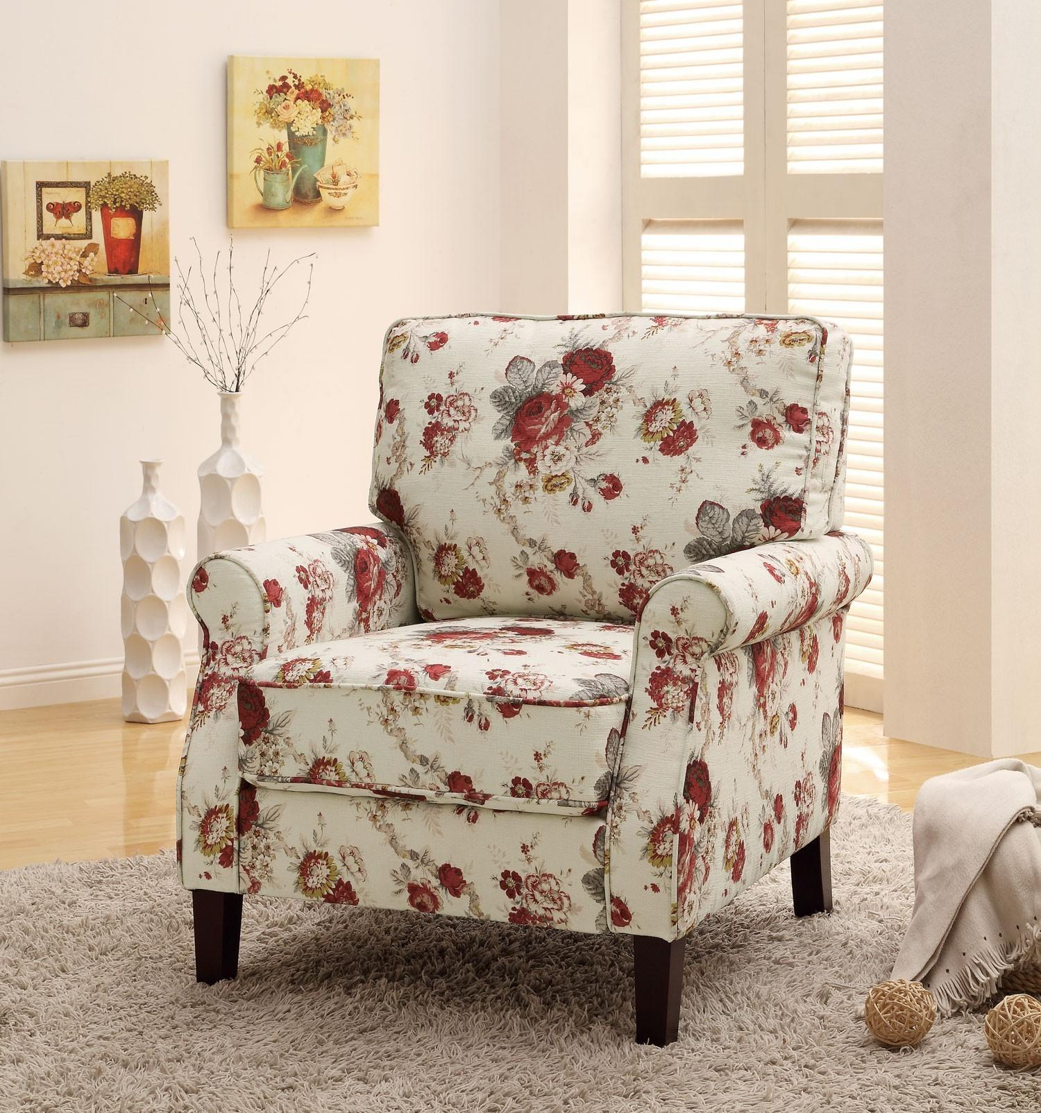 Floral Pattern Accent Chair Coaster Furniture