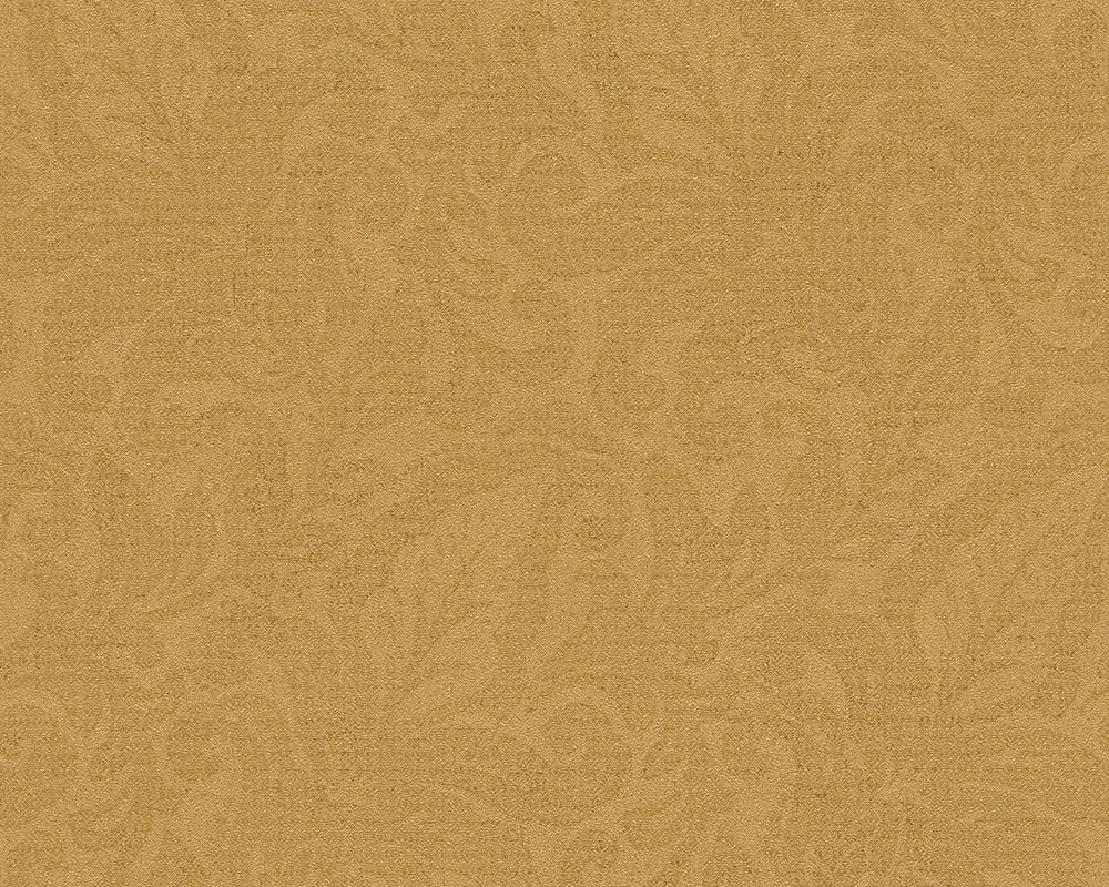 Floral Yellow Metallic Design Wall