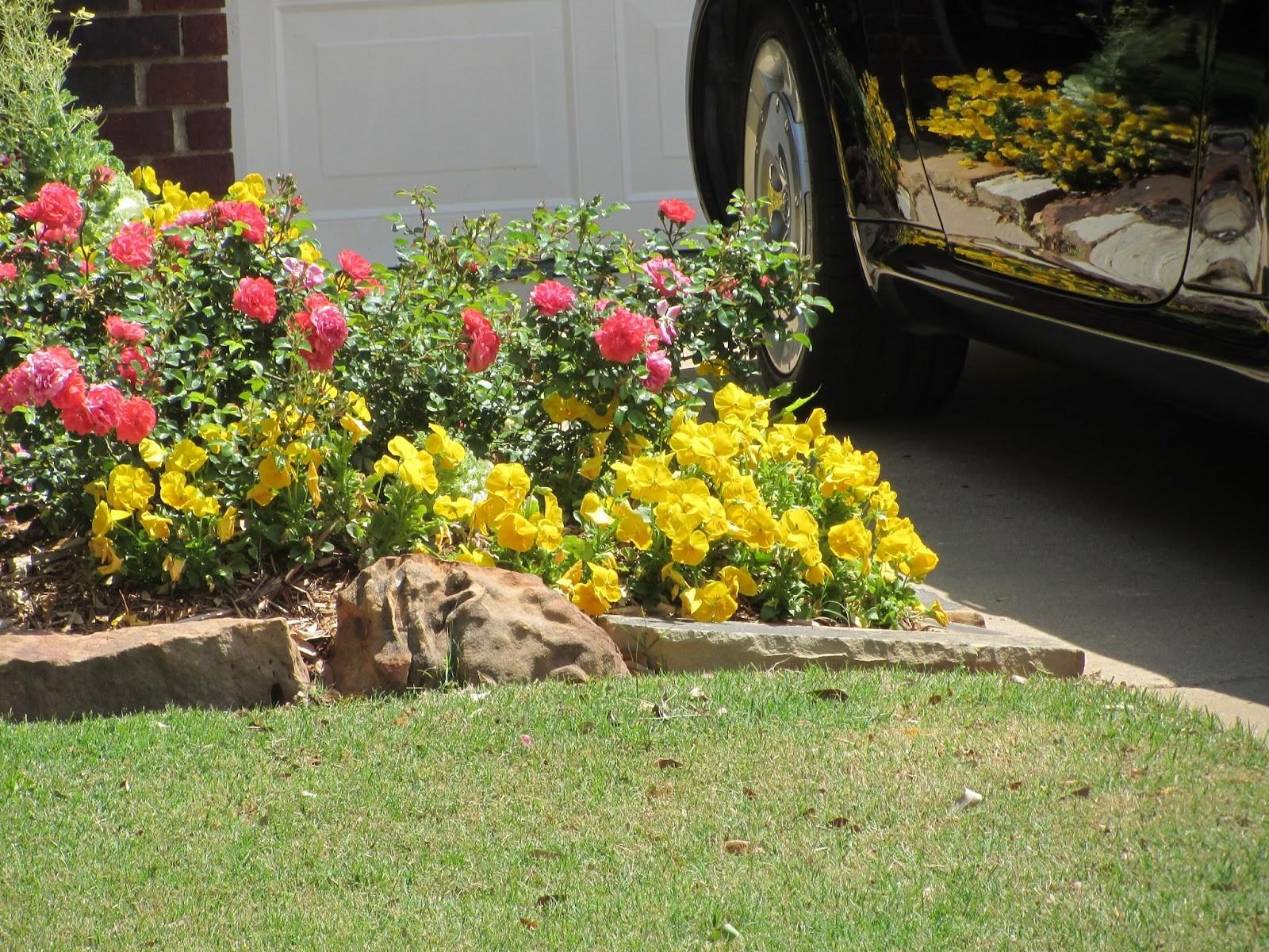 Flower Beds Rocks Bee Home Plan
