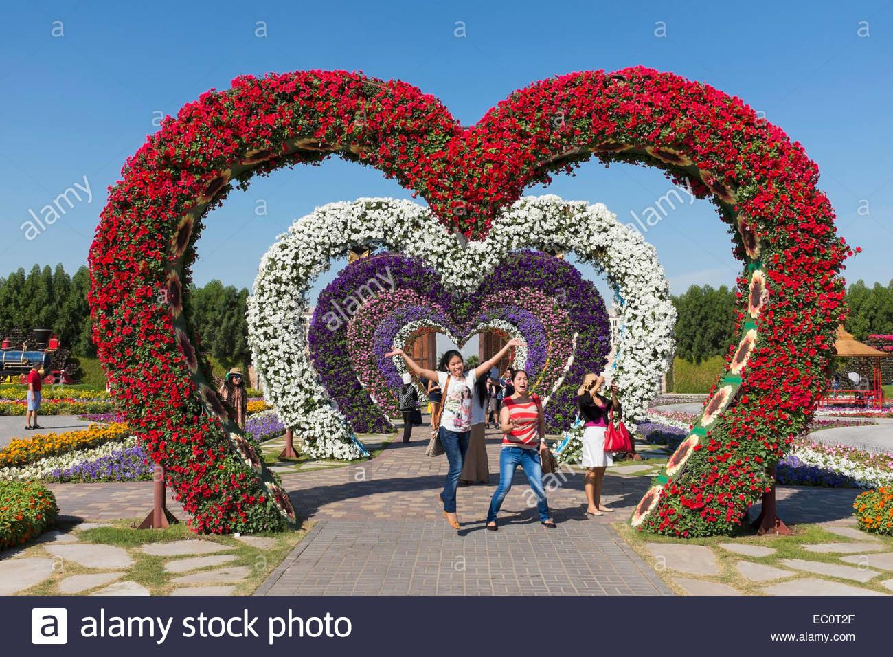 Flower Covered Love Heart Arches Miracle Garden