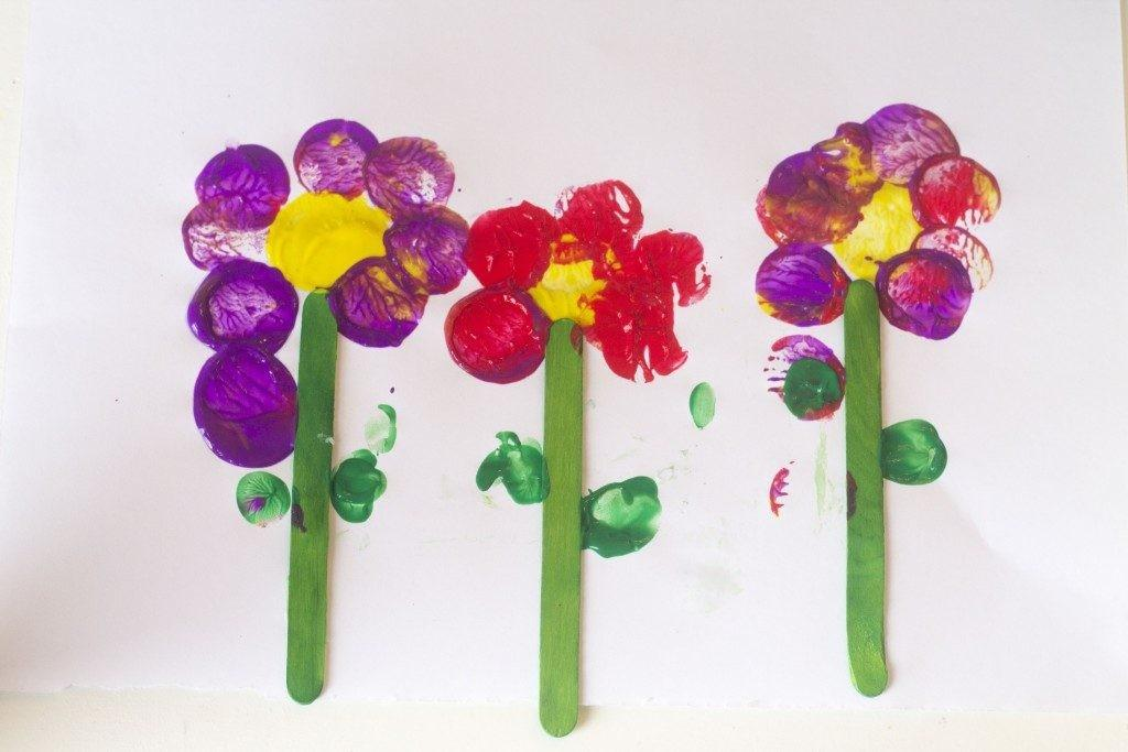 Flower Craft Kids Twist Fun Spring Process Art