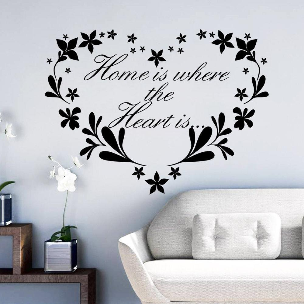 Flower Home Removable Quote Wall Sticker Mural Decor Art