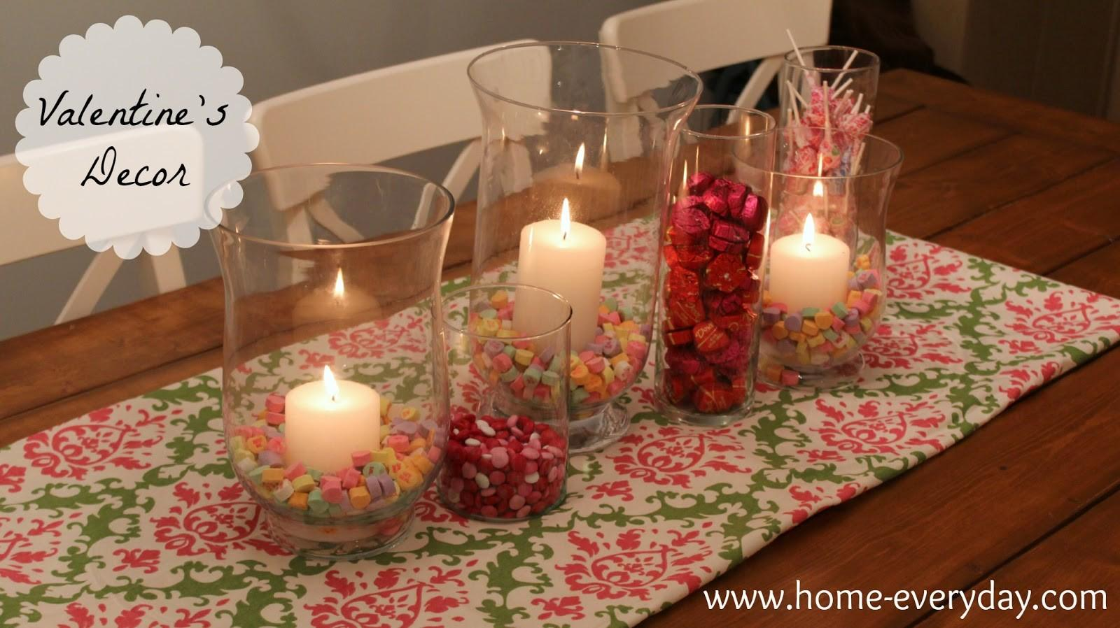 Flowers Candy Books Valentine Dining Table Decor