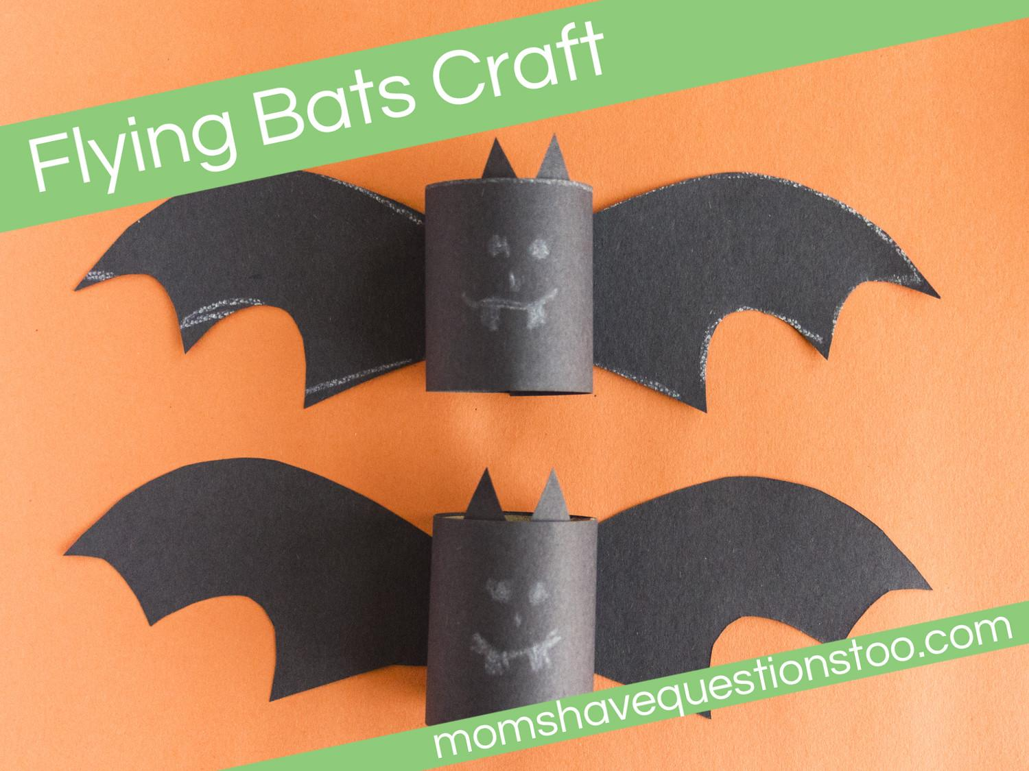 Flying Bats Craft Moms Have Questions Too