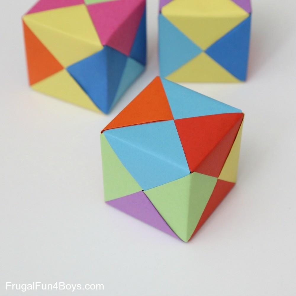 Fold Paper Into Cube Origami