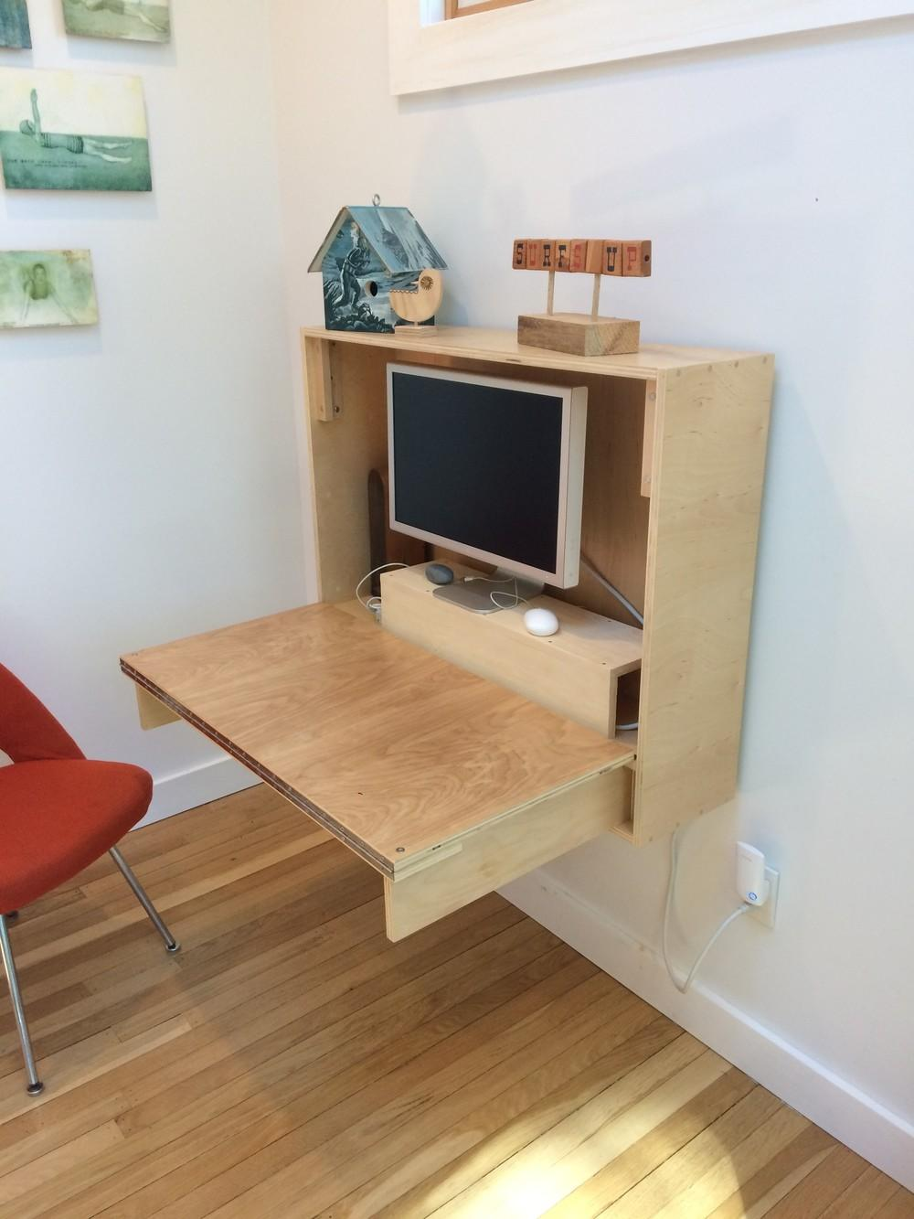 Fold Wall Desk Crafted Fairly