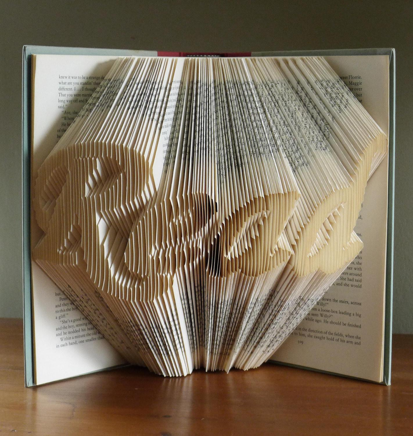 Folded Book Art Gifts Lovers Read Altered