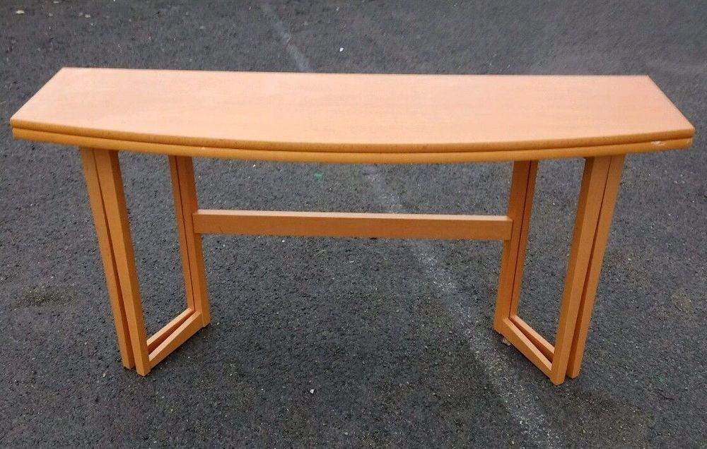 Folding Dining Table Space Saving Compact Beech Console