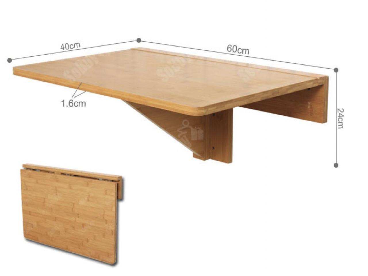 Folding Wall Table Plans Fold Down